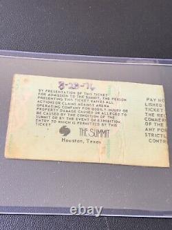 RARE Original Elvis August 28, 1976 Houston, Texas Concert Ticket Stub
