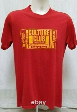 RARE Vintage 1983 CULTURE CLUB in Concert Ticket Stub Red T Shirt S/M B4
