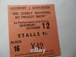 ROLLING STONES 1963 Original CONCERT TICKET STUB BO DIDDLEY UK EX+