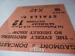 ROLLING STONES 1963 Original CONCERT TICKET STUB BO DIDDLEY UK EX+
