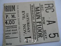 ROLLING STONES 1964 CONCERT TICKET STUB Louisville, KY EX