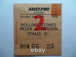 ROLLING STONES 1964 Original CONCERT TICKET STUB Adelphi Theatre, London EX