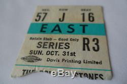 ROLLING STONES 1965 Original CONCERT TICKET STUB Toronto, CANADA EX