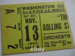 ROLLING STONES 1965 Original CONCERT TICKET STUB Washington DC EX+