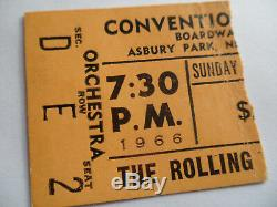 ROLLING STONES 1966 Original CONCERT TICKET STUB Asbury Park EX