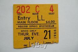 ROLLING STONES 1966 Original CONCERT TICKET STUB Portland EX