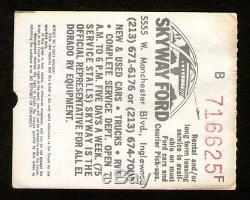 ROLLING STONES Concert Ticket Stub 1-18-1973 Nicaraguan Earthquake Benefit