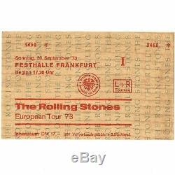 ROLLING STONES Concert Ticket Stub FRANKFURT GERMANY 9/30/73 GOATS HEAD SOUP
