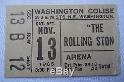 ROLLING STONES Original 1965 CONCERT Ticket STUB