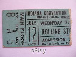 ROLLING STONES Original 1972 CONCERT TICKET STUB Exile Main Street Tour EX