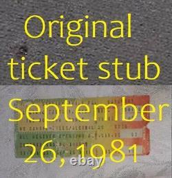 ROLLING STONES Tshirt 1981 TOUR PHILADELPHIA Ticket Stub ROCK CONCERT Openig Nit