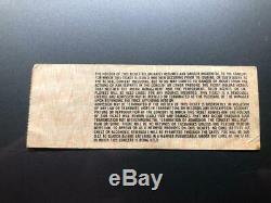 ROLLING STONES UNUSED Concert Ticket Stub June 12, 1978 COCKROACHES FOX ATLANTA