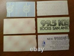 RUSH Concert Ticket Stubs (6)