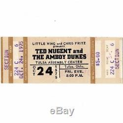 RUSH & TED NUGENT & HEAD EAST Concert Ticket Stub 10/24/75 TULSA CARESS OF STEEL