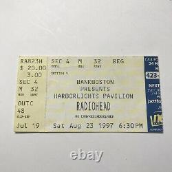 Radiohead Harborlights Pavilion Concert Ticket Stub OK Computer Vintage Aug 1997