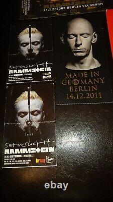 Rammstein rare Konzertkarten concert Ticket stubs lot 8 german shows Berlin