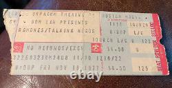 Ramones Talking Heads Eddie & Hot Rods Rare Concert Ticket Stub Boston 11/18/77