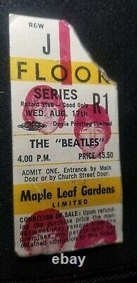 Rare 1966 Beatles Canadian Concert Ticket Stub Last Show