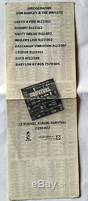 Rare Concert Ticket Stub Bob Marley Paris 3 Juillet 1980