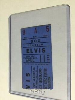 Rare Elvis Concert Ticket Stub April 11, 1972 Roanoke / Elvis On Tour