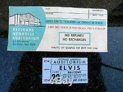 Rare Elvis Concert Ticket Stub and Envelope June 20 1974 Des Moines, Iowa