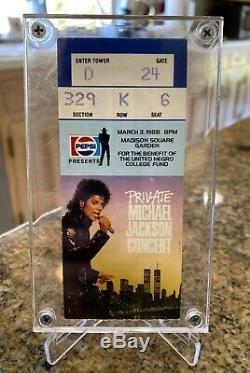 Rare Michael Jackson Private Concert Ticket Stub Madison Square Garden 3/3/1988