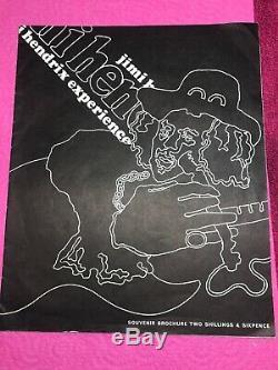 Rare Original Jimi Hendrix Experience Concert Programme And Ticket Stub RAH 1969