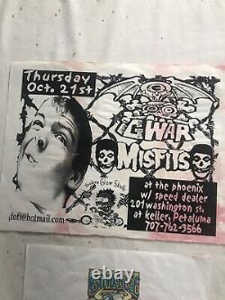 Rare Vintage Lot GWAR concert ticket stub GWAR B Q Menus Flyers Laminates