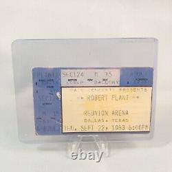 Robert Plant Reunion Arena Dallas Texas Concert Ticket Stub Vintage Sept 22 1983