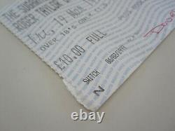 Roger Taylor (Queen) 1999 Sugarmill Stoke-on-Trent UK Tour Concert Ticket Stub
