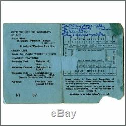 Rolling Stones 1964 Pop Hit Parade Wembley Concert Ticket Stub (UK)