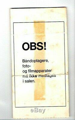Rolling Stones 1973 poster design concert ticket stub Denmark
