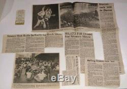 Rolling Stones 1978 USTour NEW ORLEANS Concert T-SHIRT, TICKET STUB, PROGRAM, NEWS