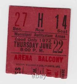 Rolling Stones 6-22-72 Exile On Main Street Tour concert ticket stub 1972