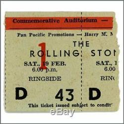 Rolling Stones 66 Commemorative Auditorium Showgrounds Concert Ticket Stub Aus