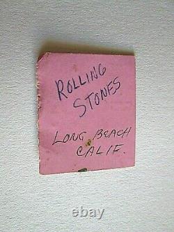 Rolling Stones Memorabilia Rare Ticket Stub Long Beach Concert 1965