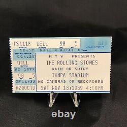 Rolling Stones Tampa Stadium Florida Concert Ticket Stub Vtg November 1989