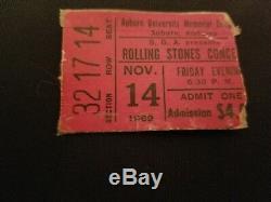 Rolling stones 1969 Concert Ticket Stub at Auburn Univ