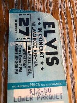 Row 1 Seat 1 Elvis Presley 1977 April 27 Milwaukee WI CONCERT TICKET STUB