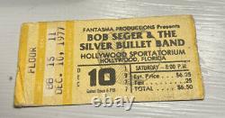 Rush Bob Seger Rare Floor Concert Ticket Stub Hollywood, Fl 12/10/1977
