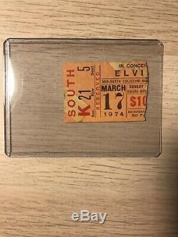 SUPER RARE ELVIS PRESLEY Concert Ticket Stub 74 Memphis, TN Mid South Coliseum