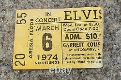 SUPER RARE ELVIS PRESLEY Concert Ticket Stub 74 Montgomery AL Garrett Coliseum