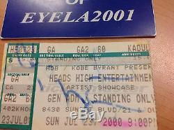 Super Rare Lakers Kobe 1st Ever Concert Performance Ticket Stub Must See