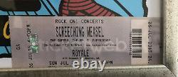 Screeching Weasel Concert Show Poster and Ticket Stub Boston 2015