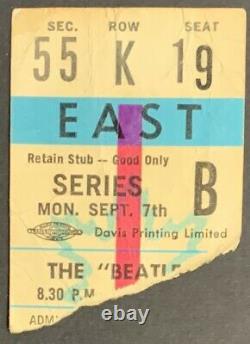 Sept 7 1964 The Beatles Concert Ticket Stub Maple Leaf Gardens 1st Trip Toronto
