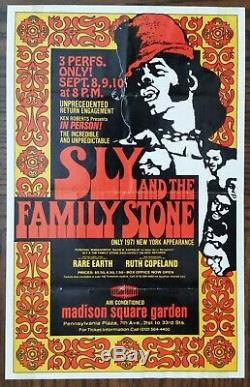 Sly & (and) the Family Stone-1971 Handbill (Flyer) & Concert Ticket Stub (MSG)