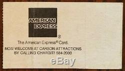 Stevie Ray Vaughan-1985 RARE Concert Ticket Stub (Tulsa-Cain's Ballroom)