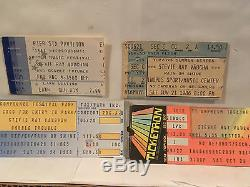 Stevie Ray Vaughan Concert Ticket Stubs Set Of 4