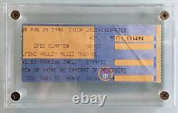 Stevie Ray Vaughan Last Concert Ticket Stub & Day After News August 26th, 1990