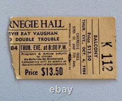 Stevie Ray Vaughan Rare Key Concert Ticket Stub Carnegie Hall 10/04/1984